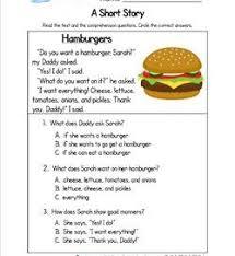 kindergarten short stories a wellspring of worksheets