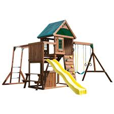 Lowes Swing Sets Playset Diy Playset Wooden Playhouse Kits Home Depot Playsets
