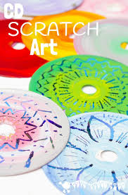 Art And Craft For Kids Of All Ages - colourful cd scratch art kids recycled art kids craft room
