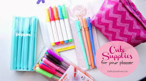 belindaselene cute supplies for your planner
