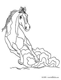 relaxing horse coloring pages hellokids