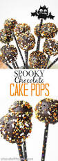 spooky chocolate cake pops ahead of thyme
