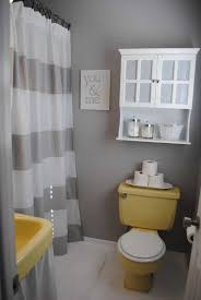bathroom ideas with shower curtain small bathroom with grey walls and stripes shower curtain also