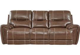 80 Leather Sofa Italo Brown Leather Power Plus Reclining Sofa Leather Sofas Brown