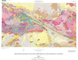 San Gabriel Map Los Angeles Geology Maps