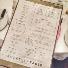 Freedom Of The Seas Main Dining Room Menu - review of the american table menu being rolled out on select