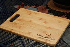 cutting board with recipe engraved cutting board personalized bamboo cutting board engraved