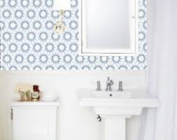 wallpaper designs for bathrooms removable wallpaper etsy