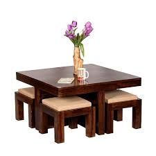 table center vivanta 4 stool and square center table essential furniture for