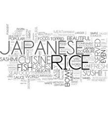 word for cuisine japanese cuisine text background word cloud vector image