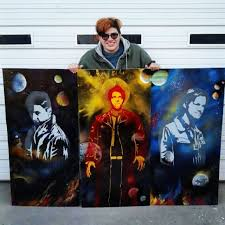 Spray Paint Artist - one of my friends has been doing supernatural spray paint art