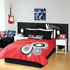 music themed queen comforter music bedroom set red black guitar comforter bedding set for teenage