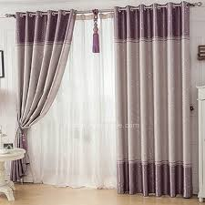 Grey And Purple Curtains Simple Pattern Grey And Purple Thermal Curtains