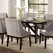 candice 7 pc dining table set in cappuccino finish by coaster 102230