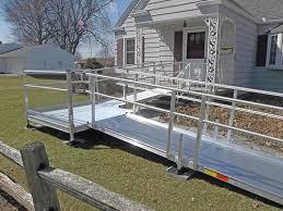 portable modular wheelchair ramp rental medical equipment