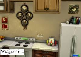 Rooster Decor For The Kitchen Nygirl Sims 4 Country Kitchen Rooster Decor