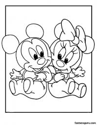 printable mickey minnie disney babies coloring pages