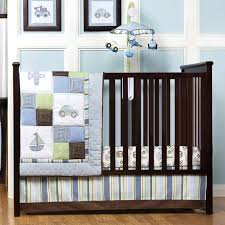 baby boy bedding sets modern blue and brown baby boy bedding sets