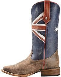 s roper boots australia roper s australian flag cowboy boot square toe brown us