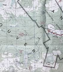 Plateau Of Mexico Map by Hiking Map Of Strathcona Plateau Vancouver Island British