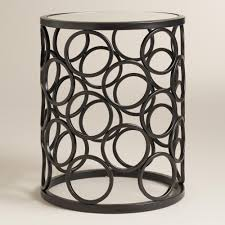 Small Metal Accent Table Round Drum Accent Table Round Designs