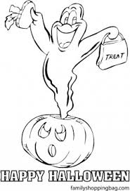 ghost halloween halloween coloring pages free printable ideas