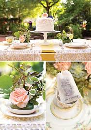 shabby chic garden tea party wedding inspiration hostess with