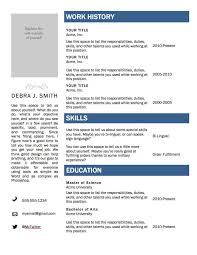 Job Resume Template Free by Microsoft Resume Templates Free Resume For Your Job Application