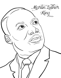 Martin Luther King Coloring Pages At Coloring Book Online Mlk Coloring Pages