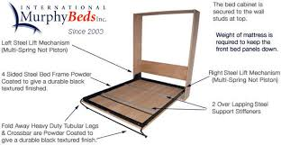 Queen Size Murphy Bed Kit Wall Bed Hardware Uk Wallbed Wallbeds Murphy Beds Ok Here Is One