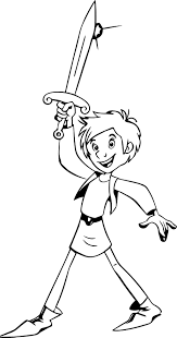 trenk the little knight trenk coloring page wecoloringpage