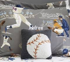 bedding throw pillows sports hook and loop decorative pillows pottery barn kids