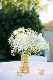 baby s breath centerpiece gold sparkly vase with baby s breath centerpiece