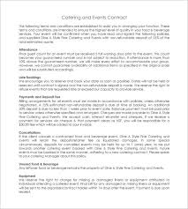 11 catering contract templates u2013 free word pdf documents