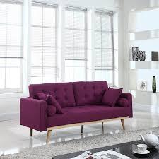 Velvet Sofa Set Furniture Purple Loveseat Eggplant Sofa Black Velvet Couch