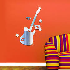 3d guitar music wall mural promotion shop for promotional 3d new mirror removable guitar music symbols decal art mural wall diy sticker decor wall sticker