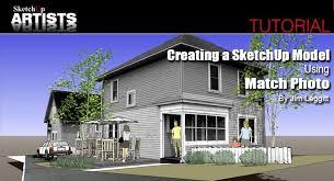 tutorial sketchup modeling creating a sketchup model using match photo sketchup 3d rendering