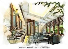 interior design sketch sketch perspective interior design sketches painting stock