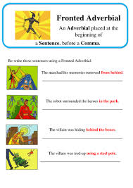 super grammar fronted adverbial spag by lastingliteracy