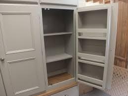 rutland painted 6 door larder cupboard with spice rack ral 7044