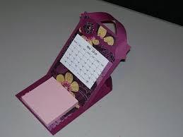 bureau scrapbooking tuto calendrier de bureau porte post it craft tutos