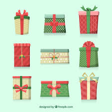 set of gift boxes for christmas vector free download