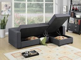 Sofa With Reversible Chaise Lounge by F7896 Gray Reversible Chaise Sectional Sofa By Poundex