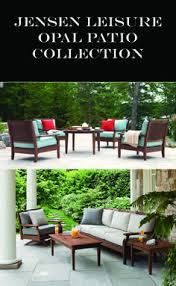 outdoor wood furniture by jensen leisure 50 luxury patio