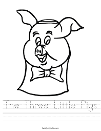 pigs worksheet twisty noodle