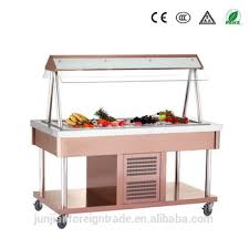 table top cooler for food buffet table top cold food refrigerated display cooler for display