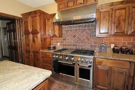 Brick Backsplash In Kitchen Kitchen Style Brick Wall Kitchen Backsplash Rustic Interior