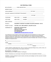 sample proposal forms 19 free documents in word pdf