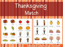 thanksgiving match thanksgiving gaming and worksheets