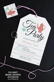 tea party bridal shower invitations tea party bridal shower invitation inspiration made simple